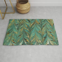 Blurry Window, Combed Marbling Pattern Rug