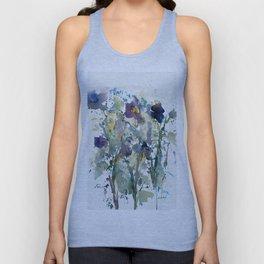 Iris Garden watercolor painting Unisex Tank Top