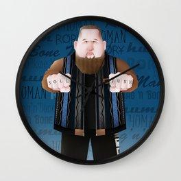 Rag'N'Bone Man caricature Wall Clock