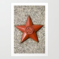 soviet Art Prints featuring Soviet star by Cozmic Photos