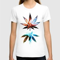 marijuana T-shirts featuring Marijuana Leaf - Design 1 by Spooky Dooky