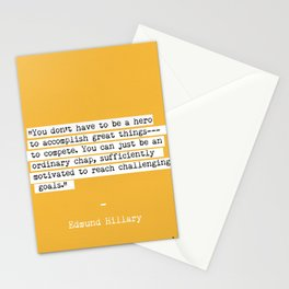 Edmund Hillary quote Stationery Cards