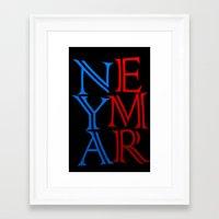 neymar Framed Art Prints featuring Neymar by Sport_Designs