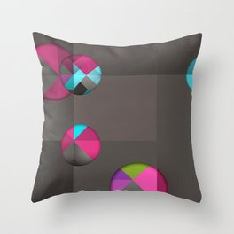 optical illusion black Throw Pillow