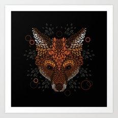 Fox Face Art Print
