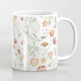 Watercolor Earthtone Colors Flowers Floral Pattern Coffee Mug