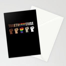 Together We Rise Black Lives Matter BLM Shirt Stationery Cards