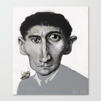 kafka Canvas Prints featuring Kafka by Sasha Brito