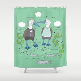 A Couple of Boobies Shower Curtain