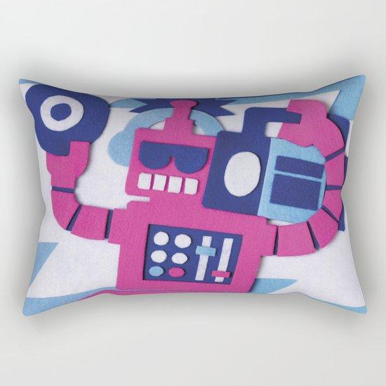 Stereo Bot Rectangular Pillow