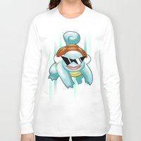 squirtle Long Sleeve T-shirts featuring Squirtle Squad by Patrick Towers