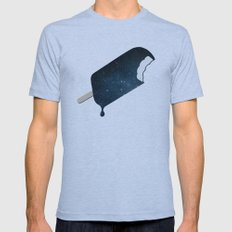 Space Melter Mens Fitted Tee Tri-Blue MEDIUM