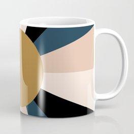 Retro Sun Rays - Moody Autumn Coffee Mug