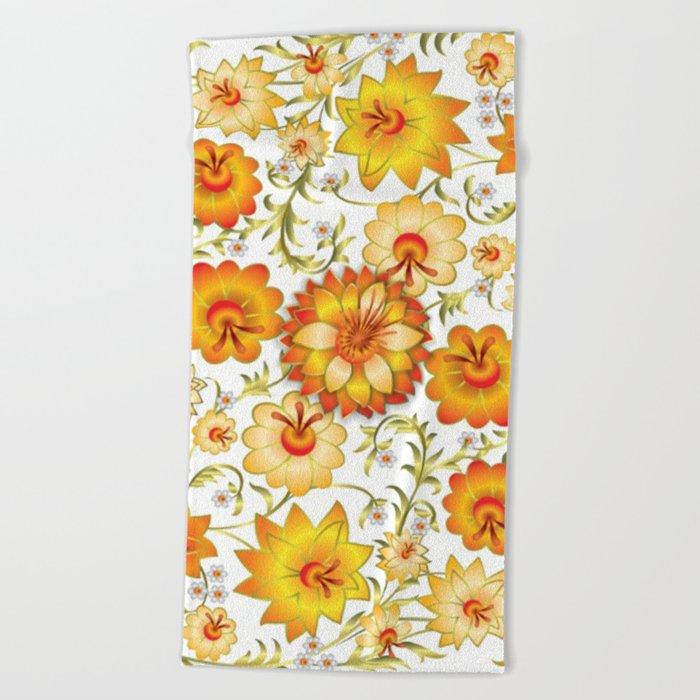 Shabby flowers #13 Beach Towel