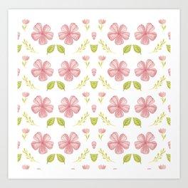 Beautiful Fashion Flower Pattern Art Art Print