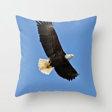 Freedom Eagle (color) Throw Pillow