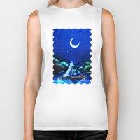 aladdin Biker Tanks featuring Starry Night Aladdin by ThreeBoys