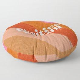 Positive Energy Sphere – Retro Floor Pillow
