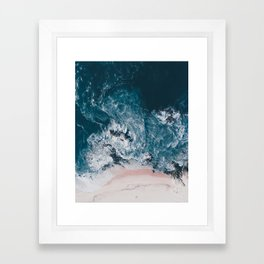 I love the sea - written on the beach Framed Art Print