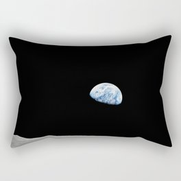 Apollo 8 - Iconic Earthrise Photograph Rectangular Pillow