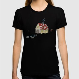 Winter Evening in Tiny Gingerbread House T-shirt