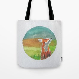 Rounded fox Tote Bag