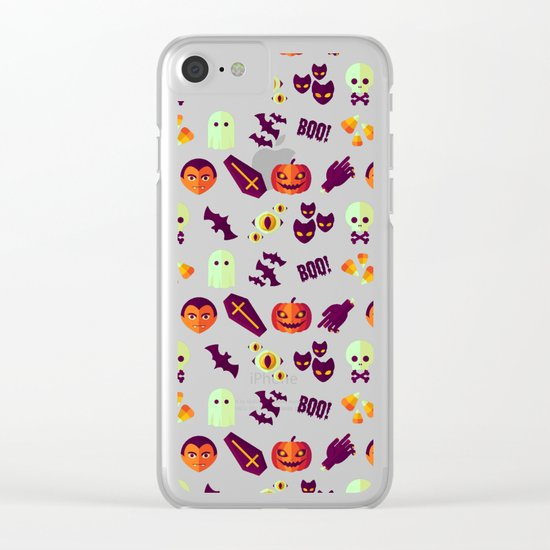 SPOOKY Clear iPhone Case