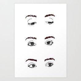 Brows and Eyes Art Print