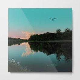 Flying over Minnesota Lakes Metal Print
