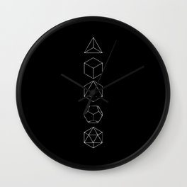 Platonic Solids Geometric Print 2 Wall Clock