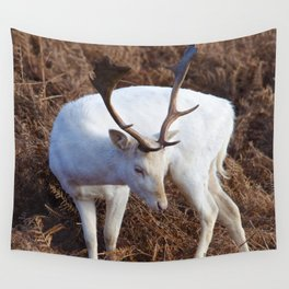 Albino deer Wall Tapestry