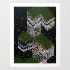 Lace Agate rok cube. Art Print