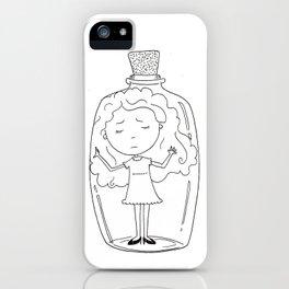Girl in a Bottle iPhone Case
