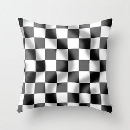 Chequered Flag Slight Ripple Throw Pillow