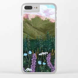Valley Lupines Clear iPhone Case