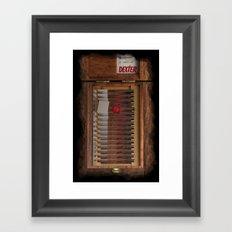 I-Dex Dexter Blood slide Iphone case... Framed Art Print