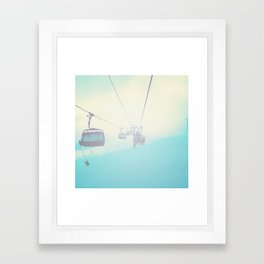 Chair Lift into the Light Framed Art Print