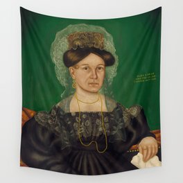 Eliza R. Read Oil Painting by Royall Brewster Smith Wall Tapestry