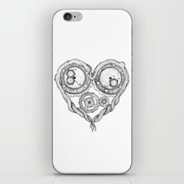 Chemistry of love: dopamine and serotonin formula (black and white version) iPhone Skin