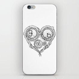Chemistry of love: dopamine and serotonin formula (black and white version) iPhone Skin