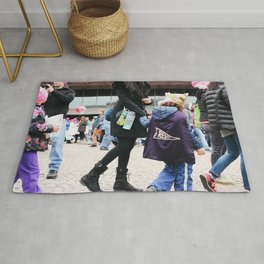 Children at the Women's March Rug