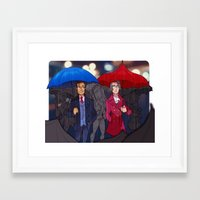 ace attorney Framed Art Prints featuring ace attorney by cclaire