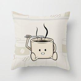 My favorite (food-cafe) Throw Pillow