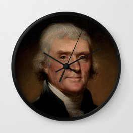 portrait of Thomas Jefferson by Rembrandt Peale Wall Clock