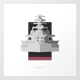 Battleship Bismark Art Print