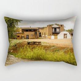San Geronimo Mission on the Taos Pueblo, New Mexico Rectangular Pillow