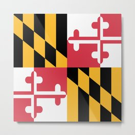 Maryland State Flag Patriotic Design Metal Print