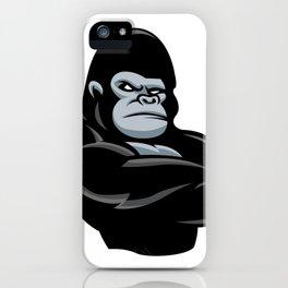 angry  gorilla.black gorilla iPhone Case