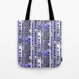 Indigo Vowels Tote Bag