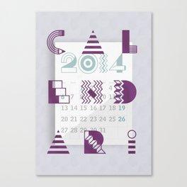 Calendari 2014 Canvas Print